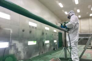 Painting gas pipe green