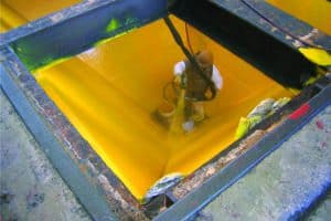 Yellow coating inside vat