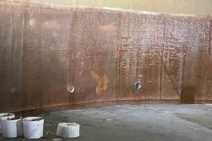 blome vinyl ester lining on tank wall